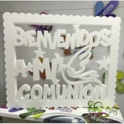 CARTEL BIENVENIDOS COMUNIÓN
